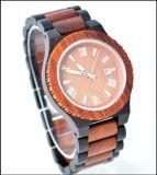 Horloges van het Merk van het Kwarts van de Wijzerplaat van het Horloge van de manier de Ebbehouten Houten Houten