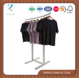 Clothing al minuto Rack con Curved Rail