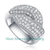 Comerciante de plata elegante del anillo de la manera (SH-0068)
