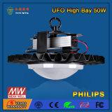 선형 50W 산업 LED 높은 만 전등 설비