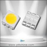 Color ambarino 5050 SMD LED, 0.2W, 60mA, 20-22-24lm, luz del sol caliente