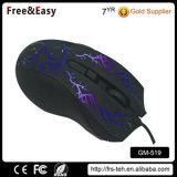 Мышь разыгрыша OEM PC мягкого касания резиновый связанная проволокой покрытием