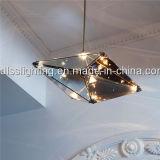 Lâmpada moderna do pendente do diodo emissor de luz do vidro para a decoração