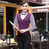 Uniforme fait sur commande de serveuse de serveur de réception d'hôtel de qualité