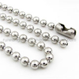 Atacado 2X150mm Metal Ball Chain, Hang Tag Steel Ball Chain