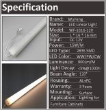 Tubo de la lámpara de la barra de la iluminación del diodo LED 12V / 24V para el gabinete bajo del contador