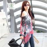 Рубашка женщин солнцезащитный крем пляжа кофточки серии Богемии способа шифоновая