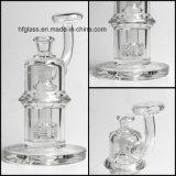 Des Hfy Glas-7mm starke 8 Zoll Mobius Ölplattform, diewasser-Rohr mit Matrix Perc Borosilicat-Raum-Trinkwasserbrunnen-Rohren auf Lager rauchen