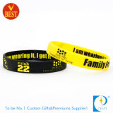 Bracelet populaire de silicones d'écran en soie de promotion d'OEM de la Chine