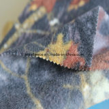 Impresión polar tela con diseño de las hojas