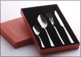 Cutlery нержавеющей стали установил с упаковкой коробки подарка