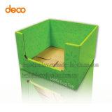 Desechables de papel caja de presentación del contador de la cartulina por menor