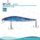 Attrait artificiel en plastique de pêche de l'eau de dessus d'amorce avec Vmc les crochets triples (SB3009)