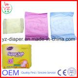 Ligne serviette hygiénique d'OEM de coton de couleur d'aperçu gratuit