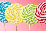 Caramelo duro del Lollipop del vario de los gustos remolino del tiempo libre