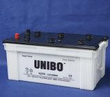 JIS resistentes N200 padrão 12V200ah secam a bateria acidificada ao chumbo cobrada do caminhão