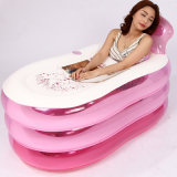 Grosses Größen-Rosa Kurbelgehäuse-Belüftungaufblasbare Swim BADEKURORT Badewanne für Erwachsenen