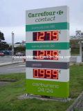 Het Teken van de Vertoning van de Wisselaar van de LEIDENE Prijs van het Gas (tt15f-2r-ROOD)