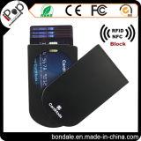 Carteiras finas magros das mulheres do suporte de cartão do caso plástico do protetor do cartão de crédito de RFID