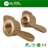 Noix de cuivre en laiton d'aile annulaire de guindineau de M4 M8 (DIN315)