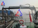 Crescimento telescópico hidráulico elétrico que iça o guindaste da plataforma do navio da máquina