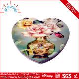 De Spiegel van de Make-up van de Zak van de Vorm van het hart door Pu met Druk wordt behandeld die