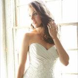 Шнурок lhbim сбор винограда Appliqued плиссированное платье венчания Trumpet Fishtail Mermaid