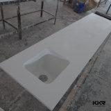 Comptoir de cuisine en acrylique en surface solide ivoire avec évier (C1705112)