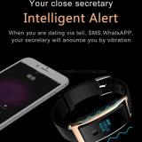 La montre intelligente téléphone le noble et le noir de mode