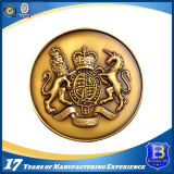 3D旧式な銀製の記念品の硬貨の円形浮彫り