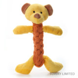 Flocked Dog Grinding Jouer à Toys Rope Animal Pet Peluche Jouets