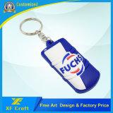 Förderung-Geschenk kundenspezifischer Belüftung-Gummischlüsselketten-Halter mit Glas-Form (XF-KC-P09)