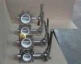 Valvola a farfalla di gestione chiave della cialda dell'acciaio inossidabile Dn125