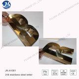 Muestra de la insignia del metal de la carta del número de canal de acero inoxidable
