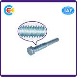 Aço de carbono 4.8 / 8.8 / 10.9 Cabeça hexagonal Pin / Flange do eixo Parafuso de fixação galvanizado / M6