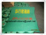 Estera de goma Gw8004 del paso verde de la fábrica con los certificados ISO9001