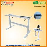 Höhen-sitzen justierbarer elektrischer stehender Schreibtisch-Rahmen-nur fester Stahl Standplatz-Schreibtisch mit automatischer Speicher-intelligentem Tastaturblock