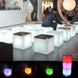 Siège cube avec coussin Siège pad rembourré LED, étanche avec télécommande WiFi