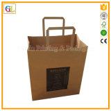 Bolsa de papel de Kraft del conjunto de la buena calidad, impresión de los bolsos