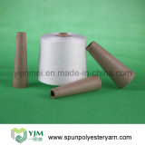 Counts From Ne 20s to 60s Polyester Spun Yarn