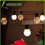 Luz de la Navidad estrellada de hadas blanca caliente al aire libre impermeable de la luz de la cadena del USB LED con 2.5W