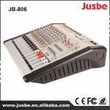 Amplifier/USBの8ohms/200W*2によって動力を与えられる可聴周波ミキサーが付いているJb 80612チャネル