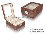 Indicador Handmade Quadrado Luxuoso do Presente Que Empacota a Caixa de Relógio do Plutônio/caso de Couro 6xslots
