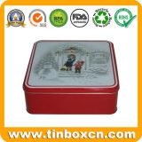 مربّعة هبة قصدير وعاء صندوق لأنّ ترقية, معدن قصدير صندوق