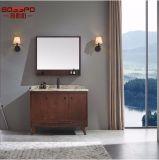 حمراء [بروون] [بثرووم كبينت] [فريستندينغ] خشبيّة مع مرآة ([غسب9-002])