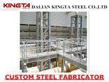 Fabricator дорожки платформы стальной структуры горячего DIP гальванизированный стальной Grating