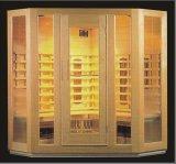 Sauna infravermelha de madeira maciça com tamanho personalizado (AT-8603)