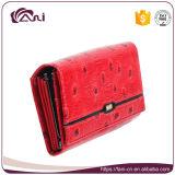 Carpetas bastante únicas de Fani para las mujeres, bolso rojo del dinero del cuero genuino