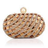 Fashion Broches Diamond Rhinestone Crystal Glittering Sacs de soirée Clutch Lady Handbags