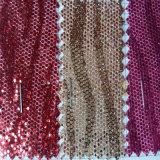 Hexagonal Net Glitter PU Cuir pour Chaussures Ceintures Vêtement Hw-762